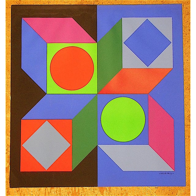 Vintage Vasarely Screenprint - Image 2 of 3