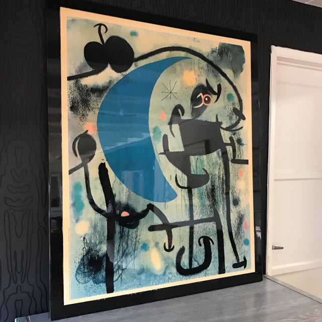 Joan Miro 1980's Lacquer Mounted Italian Poster - Image 4 of 10