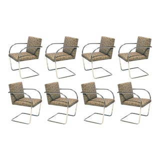 Set of 8, 10 or 12 Mies van der Rohe tubular Brno chairs by Knoll For Sale
