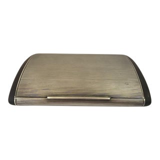 Antique 1914 English Sterling Silver and Wooden Cigarette Case For Sale