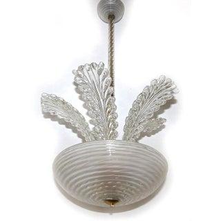 1950s Italian Barovier Murano Glass Leaf Chandelier Preview