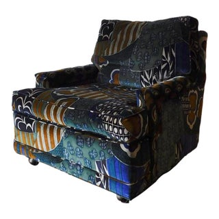 Vintage Velvet Club Chair
