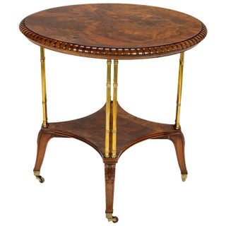 Victorian Burl Walnut Table by Holland & Sons For Sale