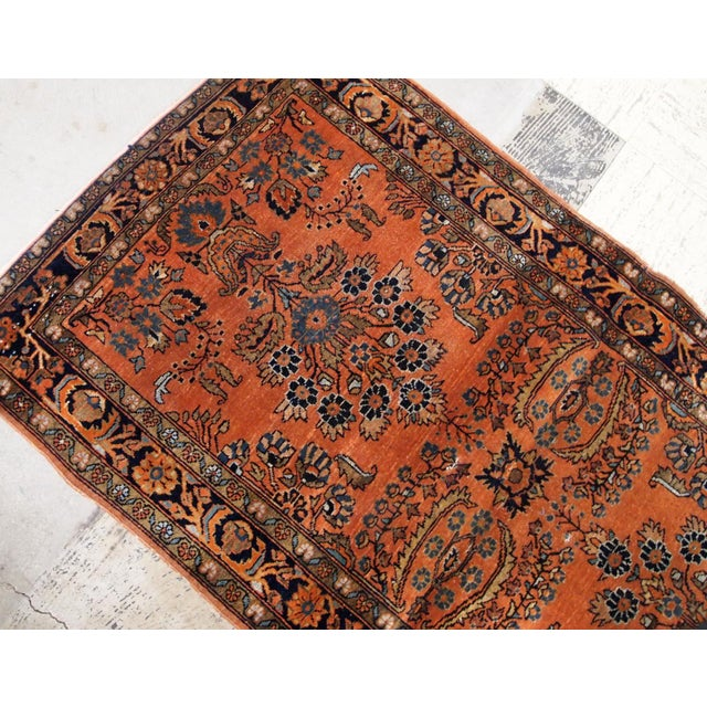 1920s Handmade Antique Persian Sarouk Rug 2.1' X 3.10' For Sale In New York - Image 6 of 9