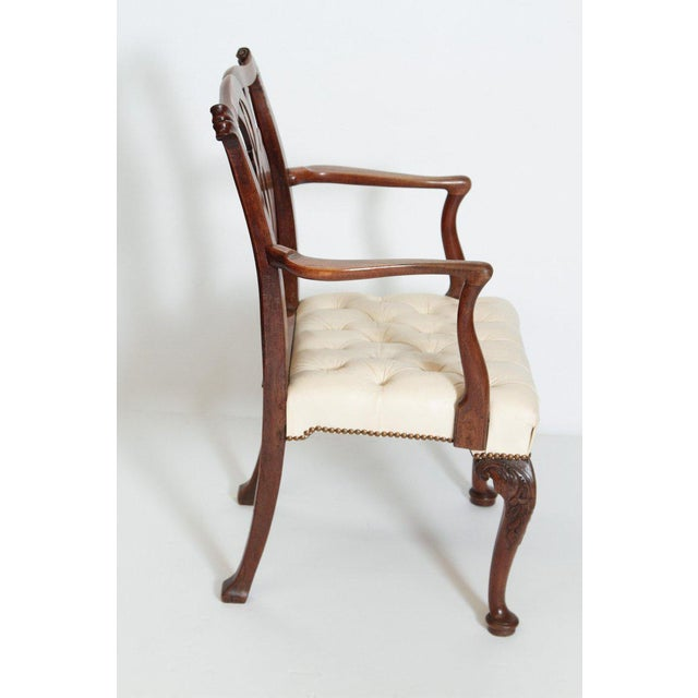 Chippendale 18th Century Chippendale Mahogany Armchair For Sale - Image 3 of 12