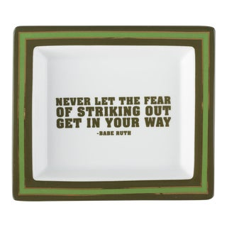 Babe Ruth Wise Sayings Gentleman's Trinket Tray by Kenneth Ludwig Chicago For Sale