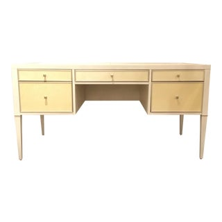 Modern Caracole White and Cream Writing Desk For Sale