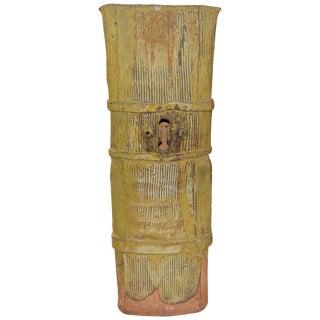 John Tuska Unsigned Pottery Vase For Sale