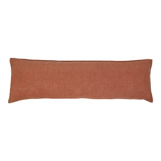 Montauk Body Pillow with Insert in Terra Cotta For Sale