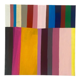 """""""Candy Stripes 2"""" Contemporary Abstract Acrylic Painting by Poppy Dodge For Sale"""