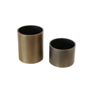 Smith Metal Arts Desktop Containers- A Pair For Sale