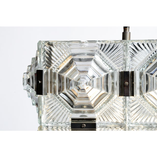 Glass Czech Cast Glass Ceiling Lamp For Sale - Image 7 of 13