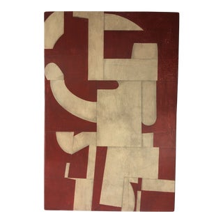Abstract Painting on Panel by Cecil Touchon For Sale