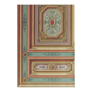 Late 19th Century French Chateau Architectural Ornament Lithograph