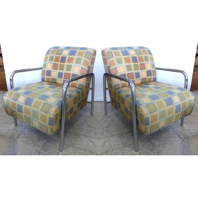 Kem Webber-Style Lounge Chairs - A Pair - Image 2 of 11