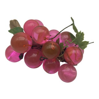 Mid-Century Modern Hot Pink Lucite Grapes For Sale