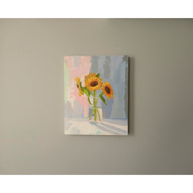 Abstract Sunflowers by Anne Carrozza Remick For Sale - Image 3 of 6