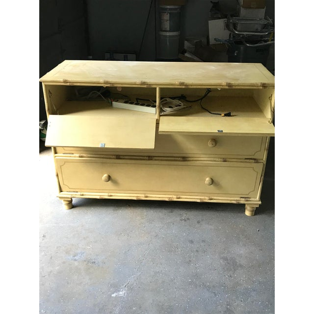 A/V Equipment Faux Bamboo Chest - Image 3 of 10
