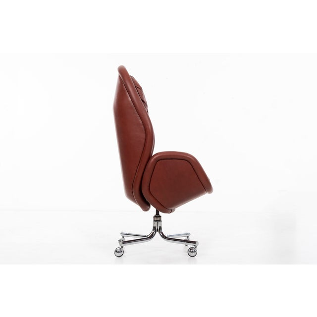 Mid-Century Modern DoMore Executive Desk Chair For Sale - Image 3 of 12