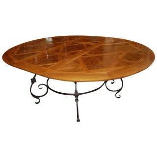 Parquet De Versailles Oval Dining Table