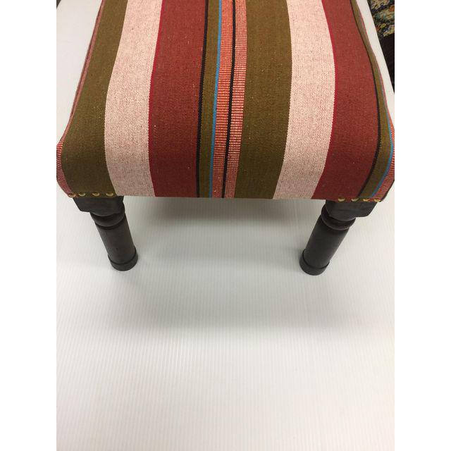 Modern Handcrafted Handloom Upholstered Bench For Sale - Image 3 of 4