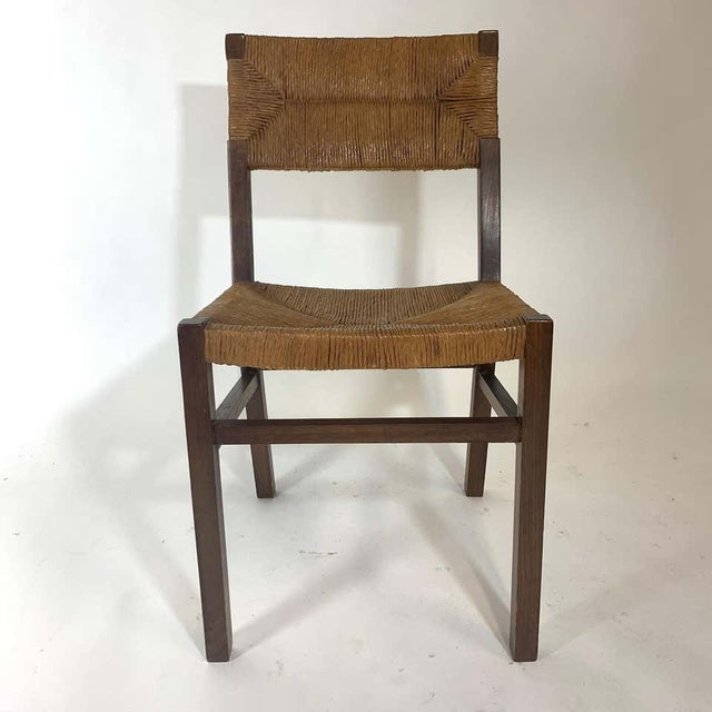 Set of 1950s French Countryside Woven Rush Seat & Back Chairs For Sale In New York - Image 6 of 8