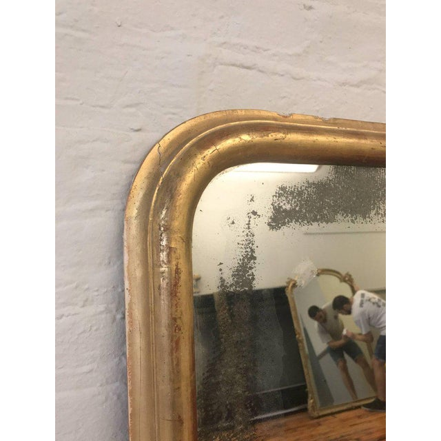 French 19th Century, Mirror With Gilt Frame and Distressed Glass - Image 6 of 9