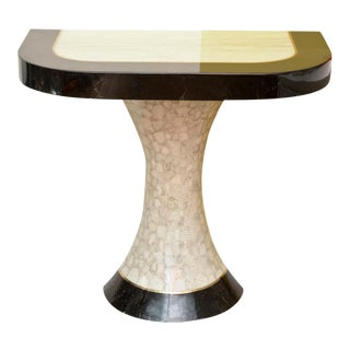 Muller's Lacquered Resin Over Stone Art Deco Style Wall Console