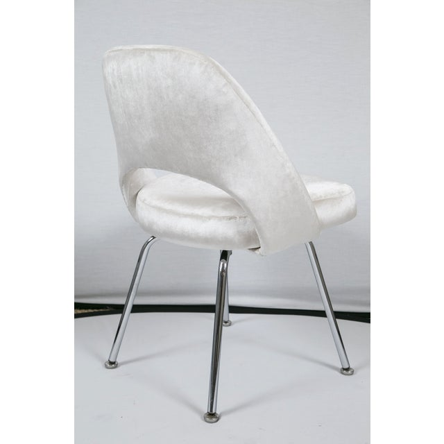 Saarinen Executive Armless Velvet Chairs - S/6 - Image 4 of 10