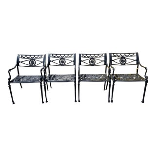 Neoclassic Aluminum Patio Dining Chairs - Set of 4