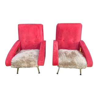Pair of Exuberant Maurice Mourra Mid-Century Chairs For Sale