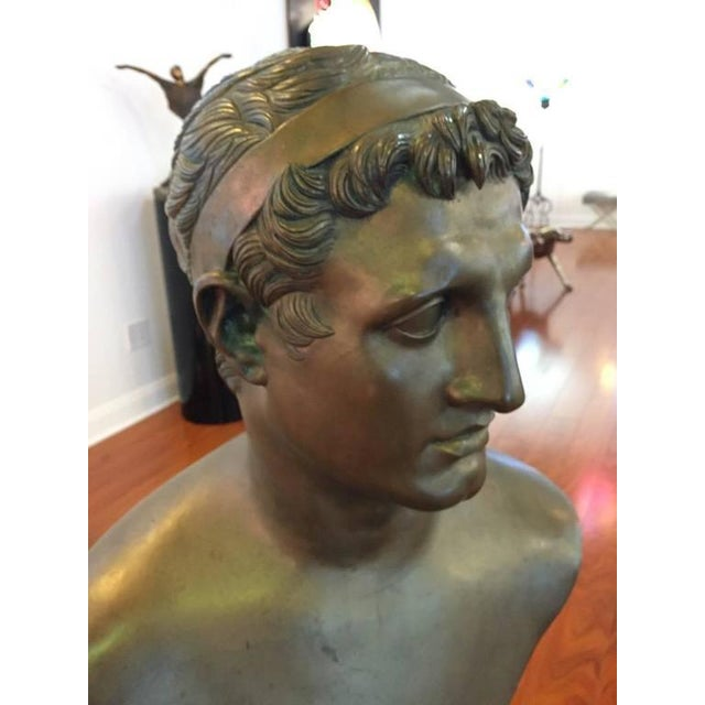 1900s 1906 Cesar Sab De Angelis Fils Naples Bronze Bust For Sale - Image 5 of 10