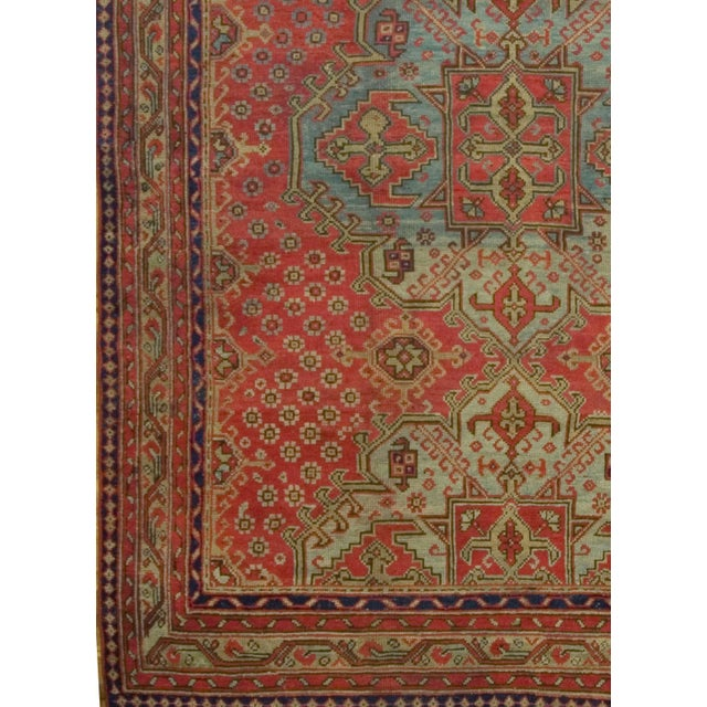 Traditional Antique Turkish Red Oushak Rug, 8'4 X 11' For Sale - Image 3 of 6