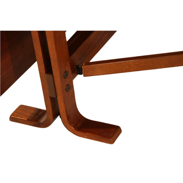 Danish Drop Leaf Teak Dining Table Bruno Mathsson Style For Sale - Image 10 of 10