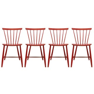 Set of 4 Poul M. Volther J46 Chairs, 1950s For Sale