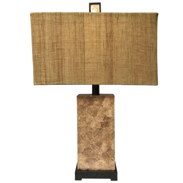 Capis shell table lamp chairish capis shell table lamp image 1 of 4 aloadofball Images