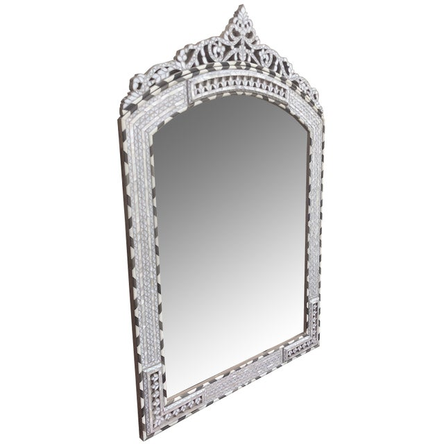 Contemporary Contemporary Mother of Pearl Inlay Mirror For Sale - Image 3 of 6