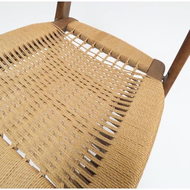 Vintage Danish Modern Rope Folding Chair For Sale - Image 7 of 7
