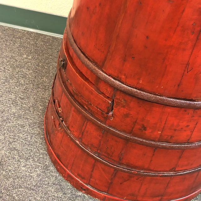 Red Antique Chinese Toddler Chair Low Stool For Sale - Image 8 of 9