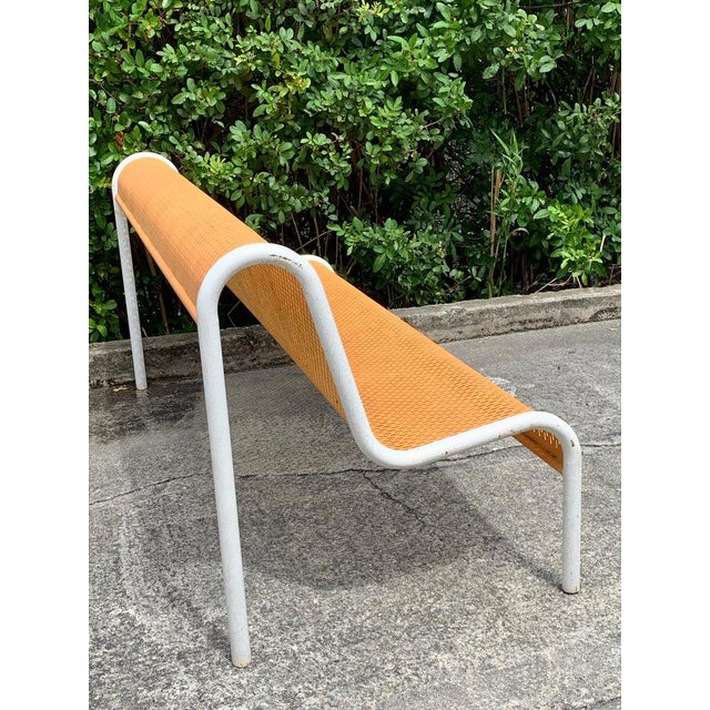 Metal Miami Modern Wrought Iron Sculptural Long Bench For Sale - Image 7 of 11