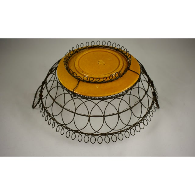 Villeroy & Boch Majolica & Heart Handled Wire Basket For Sale - Image 9 of 10
