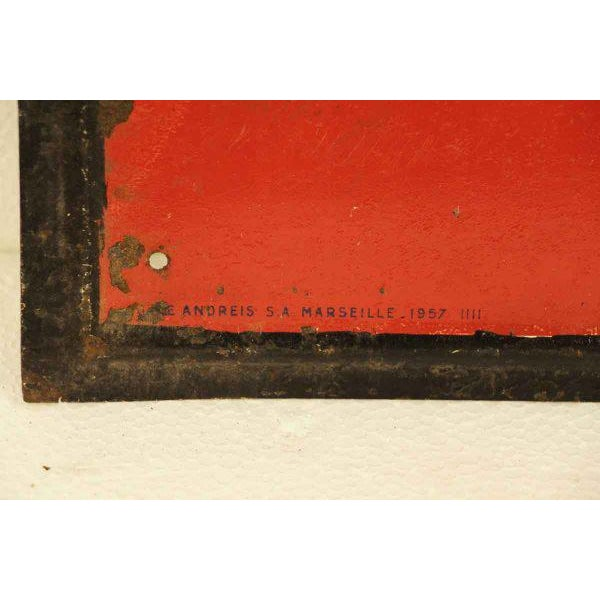 French French BYRHH Red & White Liquor Signs - A Pair For Sale - Image 3 of 5