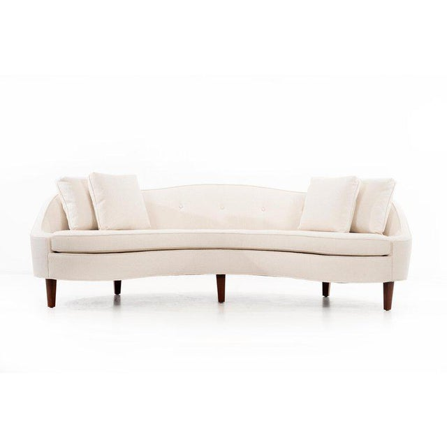 "Mahogany Edward Wormley ""Oasis"" Sofa For Sale - Image 7 of 8"