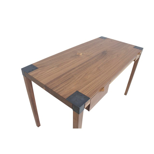 Contemporary Walnut Writer's Desk For Sale - Image 3 of 9