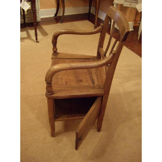 Country 19th C. French Walnut Potty Chair For Sale - Image 3 of 8