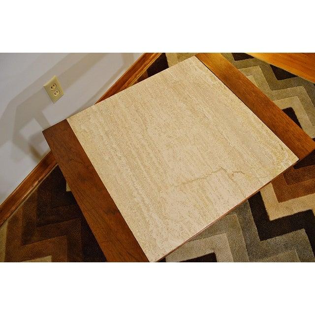Mid Century Danish Style Italian Marble End Table - Image 3 of 7