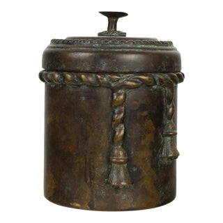 Bronze Maitland Smith Lidded Canister Box For Sale
