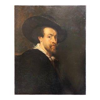 """19th Century Continental Portrait of a Man """"After Rubens"""" For Sale"""