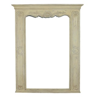 French Louis XV Style Antique Normandie White Trumeau
