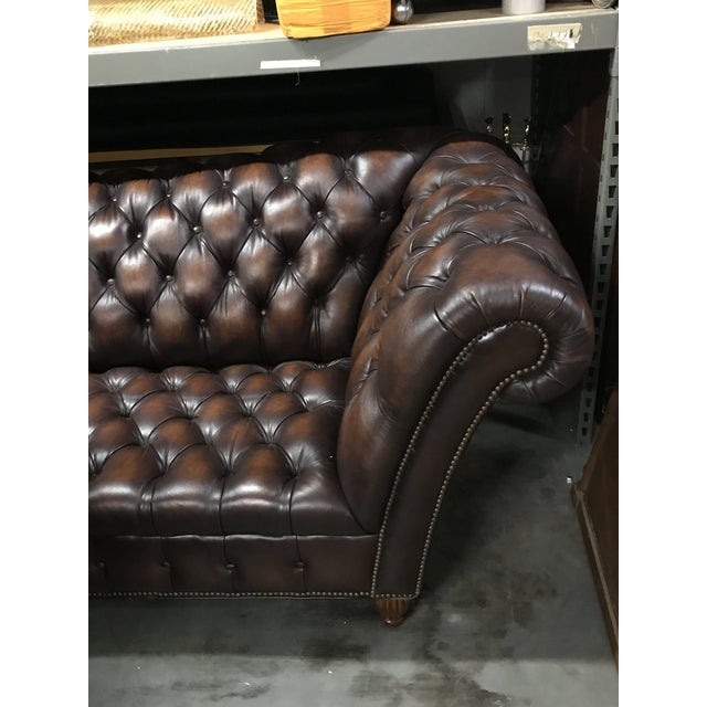 Sumptuous Leather Chesterfield Sofa With Rolled Arms For Sale - Image 11 of 13